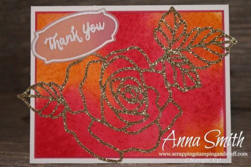 Watercolor Rose Wonder Card Stampin' Up!