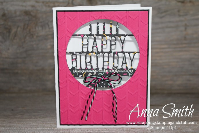 Happy Birthday Party Pop-Up Thinlits Card
