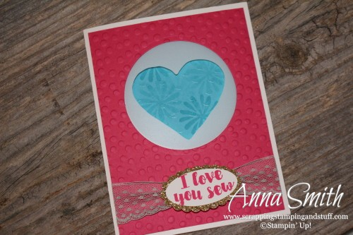 Love You Sew Memories in the Making Card Stampin' Up!