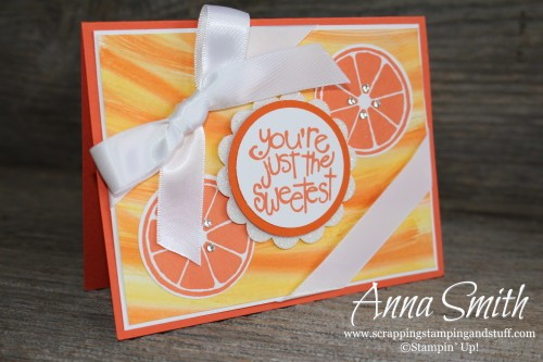 You're the Sweetest Orange Card made with Stampin' Up! Apple of My Eye stamp set