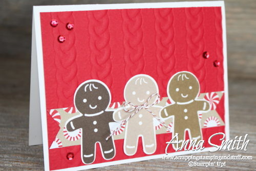 Cookie Cutter Christmas Gingerbread Men Card