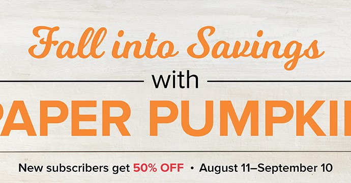Paper Pumpkin Half Off Sale