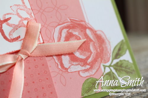 Quick and easy card idea using the Stampin' Up! Petal Garden card pack and Watercolor Words stamp set
