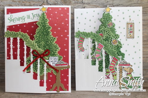 Stampin' Up! Ready for Christmas trifold Christmas card with video tutorial
