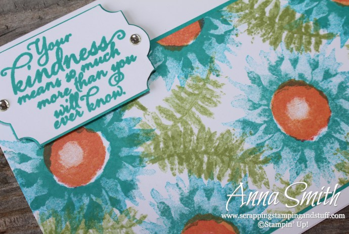 Bright floral summery card made with Stampin' Up! Painted Harvest stamp set