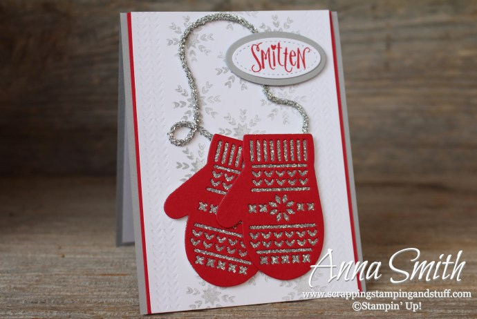 Stampin' Up! Smitten Mittens Christmas or Winter Card idea