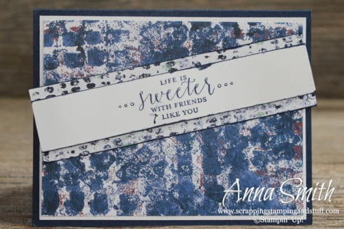 Stampin' Up! Tranquil Textures and Detailed with Love stone washed blue friends card