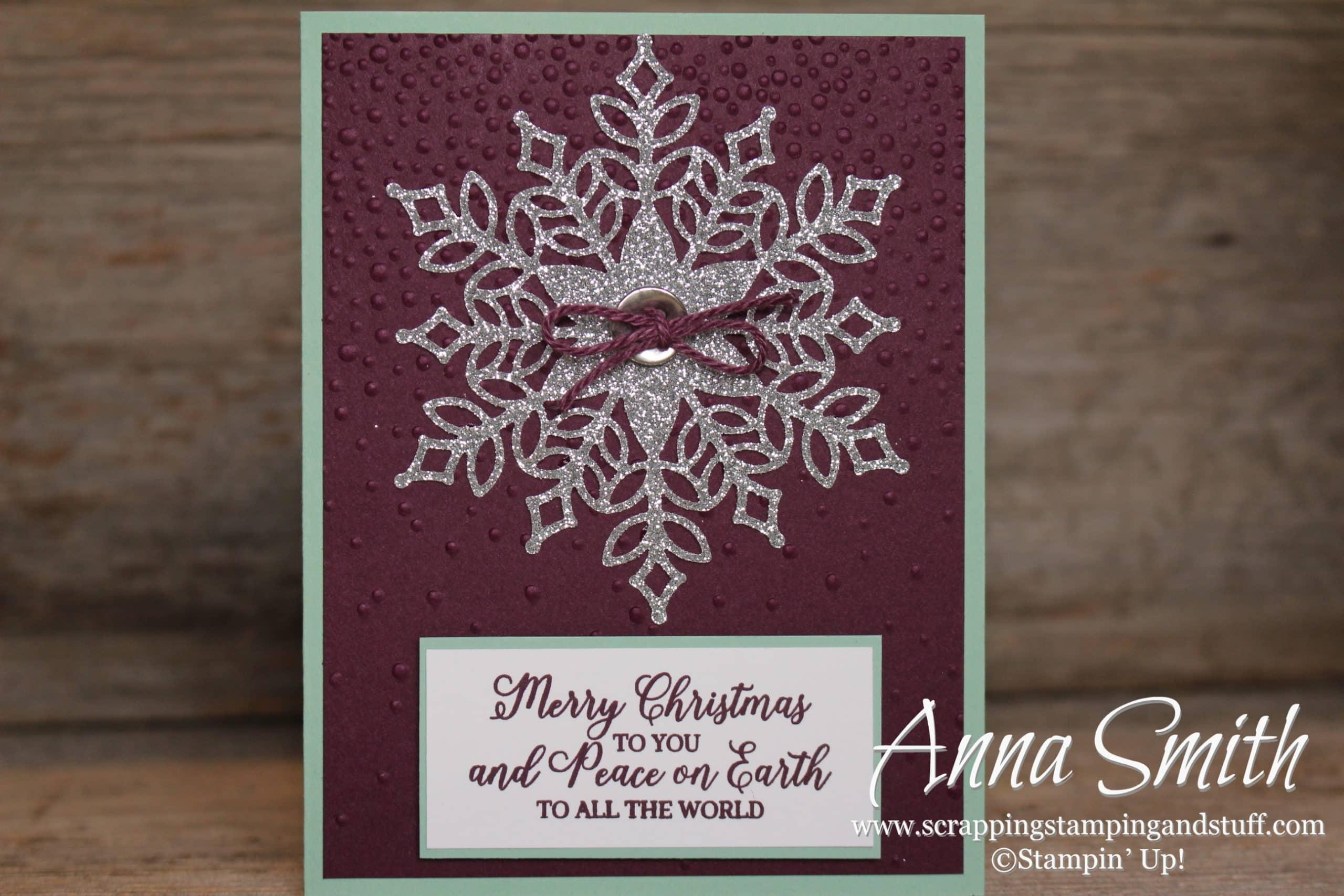 Stampin Up Snowflake Showcase Snow Is Glistening Stamp