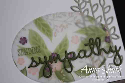 Occasions catalog sneak peek!! Clean and simple sympathy card using the brand new Stampin' Up! Well Said stamp set and Well Written Framelits!