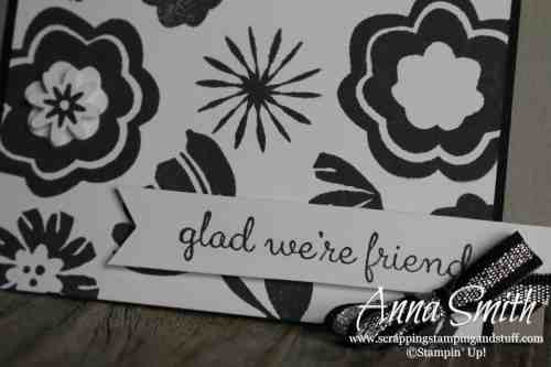 Occasions Catalog Sneak Peek!! Black and white card idea using the Stampin' Up! Bloom by Bloom stamp set