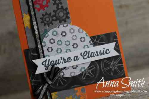 Stampin' Up! Geared Up Garage and Classic Garage Man's Birthday Card Idea