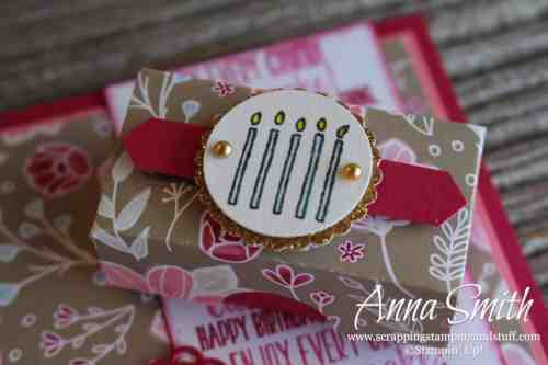 Stampin' Up! Piece of Cake Birthday Card Idea and Tiny Treat Box with Pillow Mints