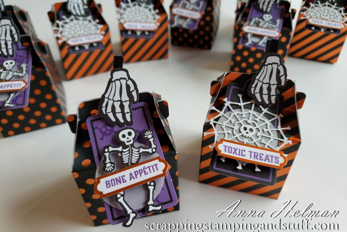 Paper Pumpkin is an amazing craft subscription box that arrives on your doorstep once each month! This was the September 2019 Paper Pumkin Kit Bone Appetit for DIY Halloween treat boxes!