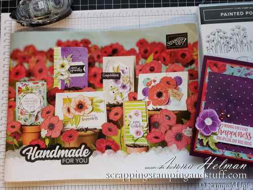 Stampin Up 2020 Mini Catalog Preview , Sale-a-bration Sneak Peeks, and a Peaceful Poppies product suite card sample!