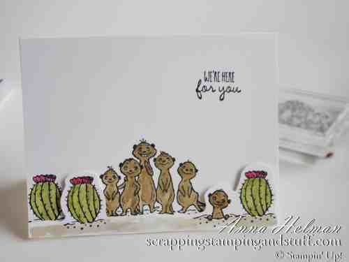 2020 Sale-a-bration Sneak Peek! Stampin Up The Gangs All Meer card idea, a reward item during 2020 Sale-a-bration!