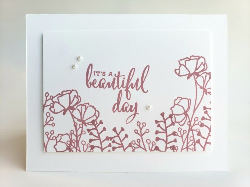 Three Simple Card Designs For Beginning Stampers Using One Stamp Set, One Ink, One Paper - Stampin Up Share What You Love Stamp Set