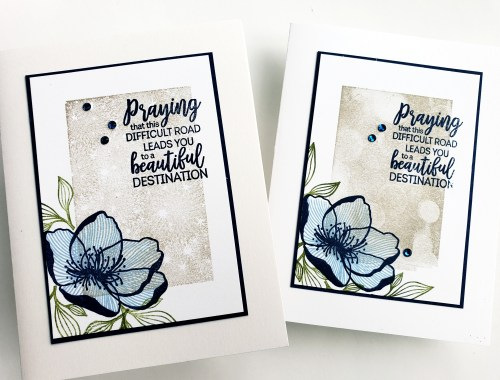 Sympathy Thinking of You Card Made With Stampin' Up! Beautiful Promenade and Bokeh Dots