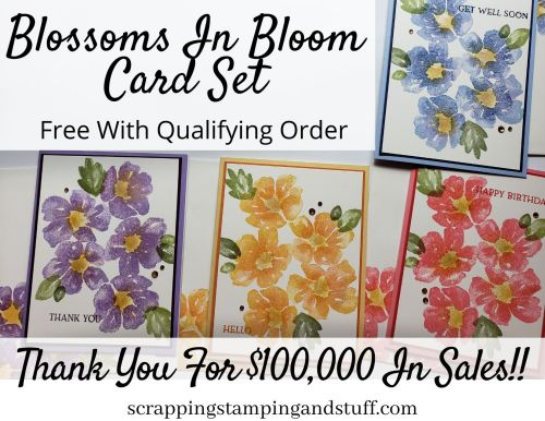 Free Card Set With Order - Blossoms In Bloom Card Set - Thank You For $100K In Sales!