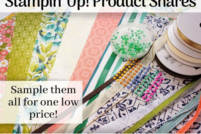 Stampin' Up! Product Shares 2020 Annual Catalog - Sample All The New Papers, Ribbons, and Embellishments for One Low Price