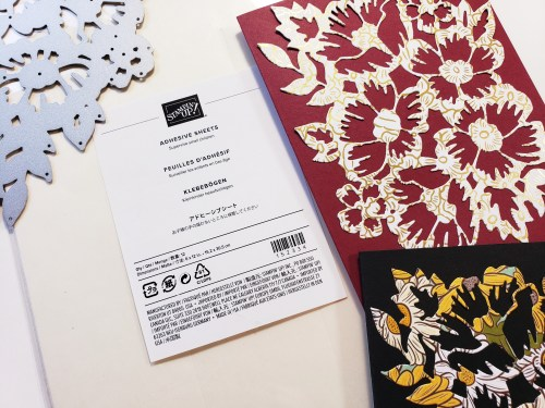 How To Attach Small Die Cuts To Cards and Scrapbook Pages Using Stampin Up Adhesive Sheets