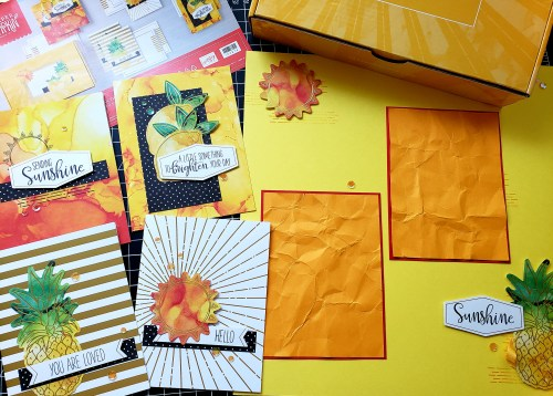 Stampin Up Paper Pumpkin June 2020 - Box of Sunshine card kit with alternative ideas