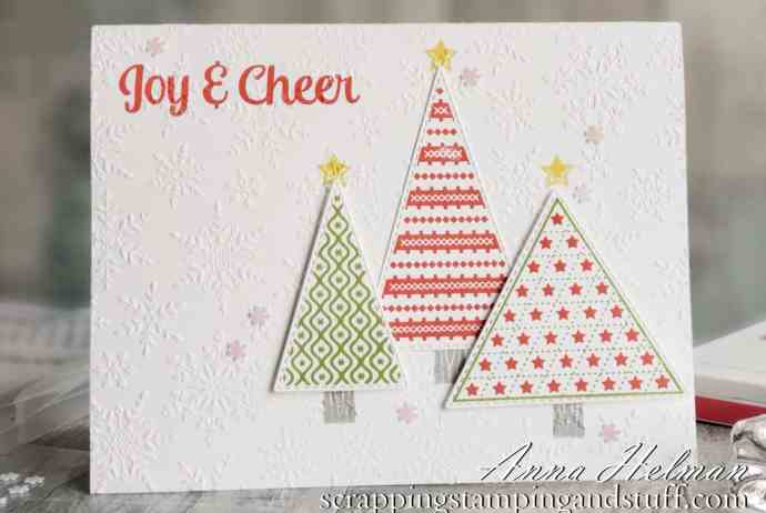 Join in and watch along to make this cute Christmas card idea using the Stampin Up Tree Angle stamp set in the 2020 Holiday Catalog.