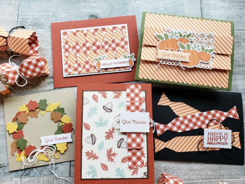 Take a look at the September 2020 Paper Pumpkin Kit - Hello Pumpkin. Use this kit for adorable treat holders or visit for some alternative ideas!