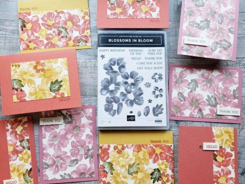 Join me today while I create 10 simple cards using the Stampin Up Blossoms In Bloom stamp set.