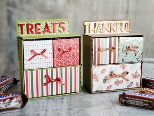 Stop in for this paper treat chest tutorial, and learn to make this adorable chest of drawers to fill with treats!