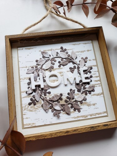 Make this DIY dollar store farmhouse sign in just a few minutes using the Stampin Up Arrange A Wreath Bundle and a $2 dollar store frame!