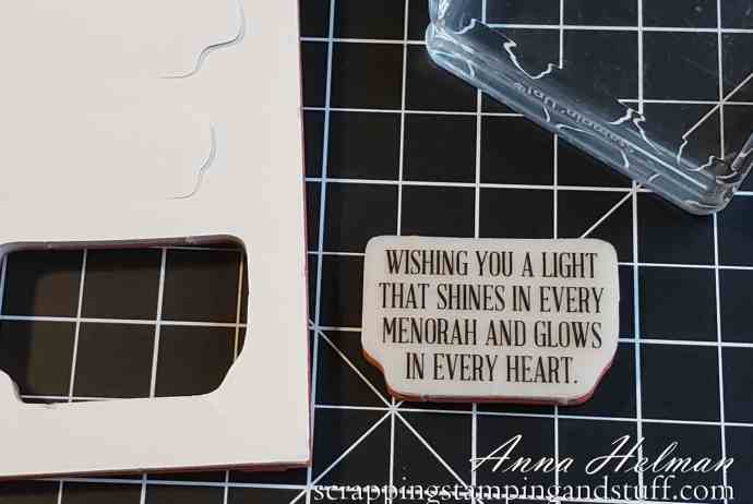 Use this quick card making tip and you will be able to place labels on rubber stamps perfectly every time!
