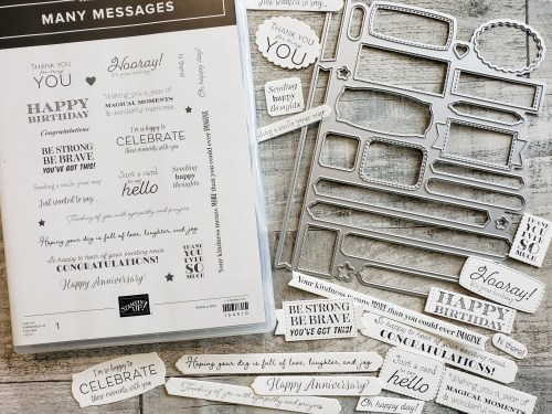 Make hundreds of sentiment tags for your card making projects in minutes with the Stampin Up Many Messages bundle.