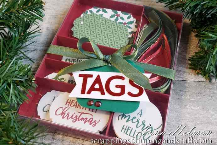 This DIY tag kit is such a fun and inexpensive gift idea. It includes all the makings for the recipient to make cute tags in a pinch!
