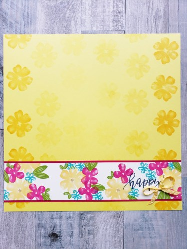 Take a look at this bright and bold floral scrapbook page using the Stampin Up Pretty Perennials stamp set.