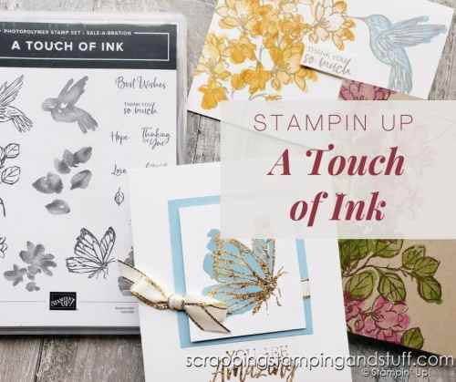 Get entered to win the Stampin Up A Touch of Ink or get it free right now with your product order during Sale-a-bration!
