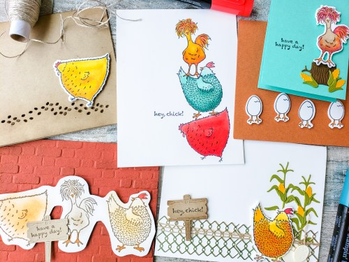 Make amazing chicken cards with the Stampin Up Hey Chick chicken stamp set and dies!
