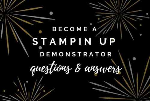 If you've ever wondered about signing up with Stampin Up, I have all of the answers to all of you questions right here.