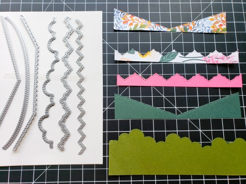 Click to see 6 creative ways to use borders dies for card making and other paper projects, featuring the Stampin Up Basic Borders dies!
