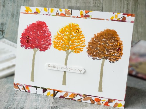 Make beautifully stunning tree cards with the Stampin Up Beauty of Friendship stamp set! Get 6 card ideas here!