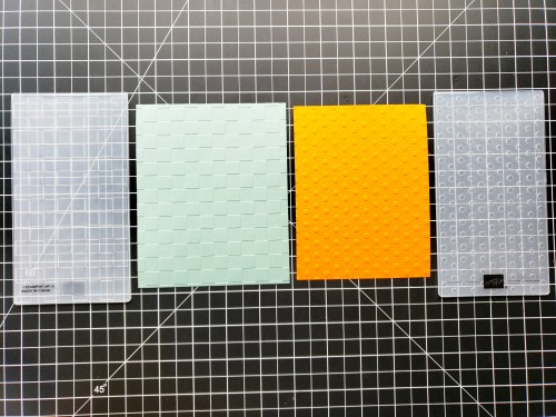Click here to see this card making hack on how to emboss a full card front using Stampin Up's mini embossing folder!