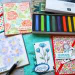 Stampin Up pastels are the best soft pastels! Click here for 7 ways to use dry pastels on your paper projects! They