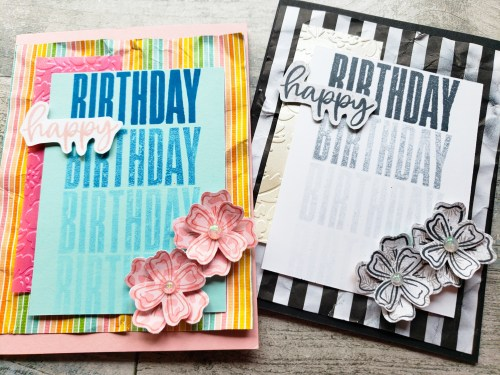 Make cards with big & bold greetings using the Stampin Up Biggest Wish stamp set. Card tutorial available!