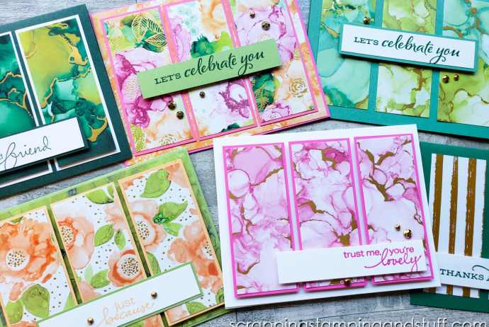 Try this lovely tri-panel card design today for quick and beautiful card projects in a snap! Customize with your own designer paper!