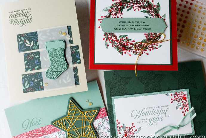 Stampin Up Tidings & Trimmings Holiday Card Class In The Mail