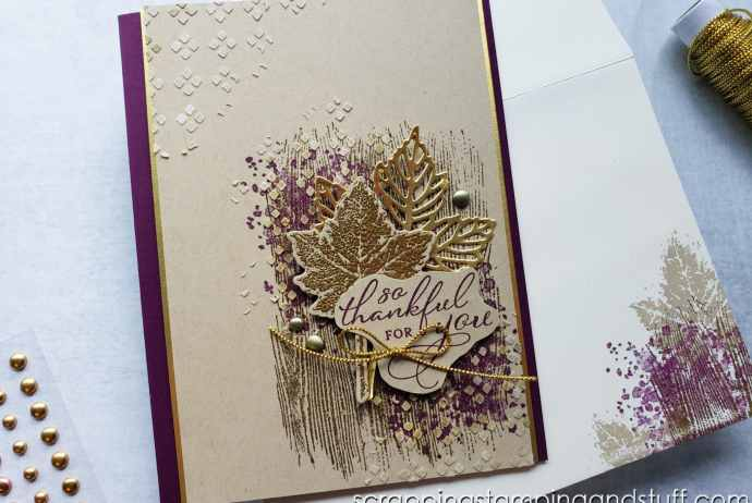 Make beautiful natural cards using the Stampin Up Gorgeous Leaves bundle! Perfect for fall and other seasons through the year!