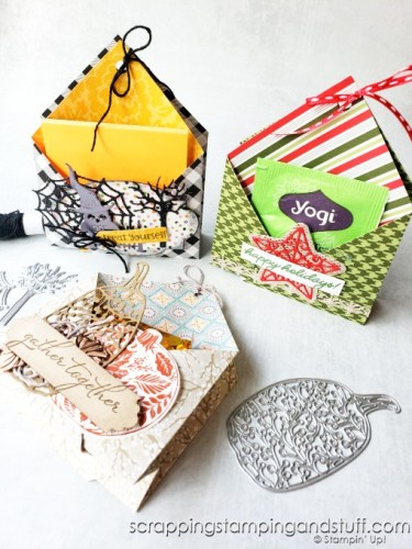 Make this double pocket treat holder for any special occasion, as a fun treat, post-it holder, table decoration, name card holder, co-worker gift, and more!