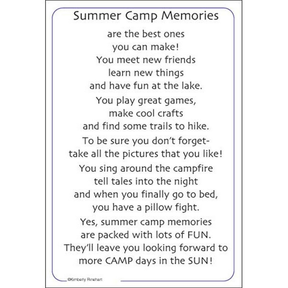 It Takes Two Poem For A Page Summer Camp Scrappin