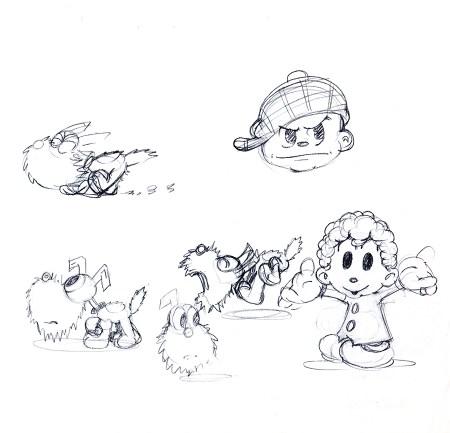 Scrappy sketches