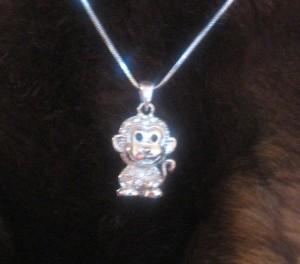 Sparkly Monkey Necklace