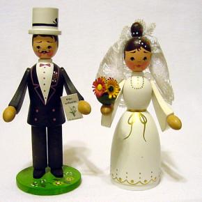 German wooden wedding figurines